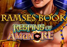 Ramses Book Respins of Amun Re Slots Mobile (Gamomat)