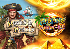 Books and Pearls Respins of Amun-Re Slots Mobile (Gamomat Premium)